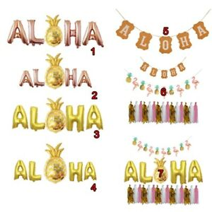 Hawaiian-Tropical-Pineapple-Aloha-Summer-Party-Banner-Bunting-Balloon-URC