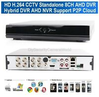 8Ch AHD-M DVR /1080P NVR Video Recorder H.264 Security CCTV DVR -Hybrid Mode
