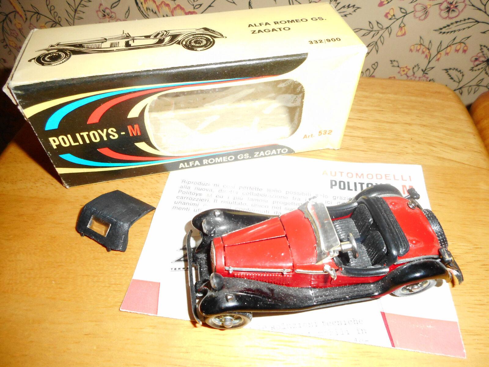 Dinky  POLITOYS ALFA ROMEO GS ZAGATO ref 532  authentique