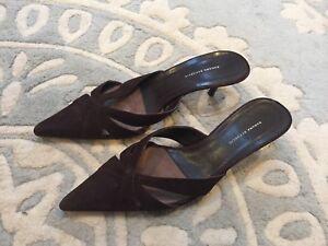 4c861cecdfeef Banana Republic Brown Suede Leather Pointed Toe Slip on Kitten Heels ...