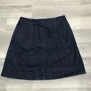 a2fa04c6c261 COS Dark Dye Blue Denim A-Line Cotton Mini Skirt Size EUR 36 UK 8 ...
