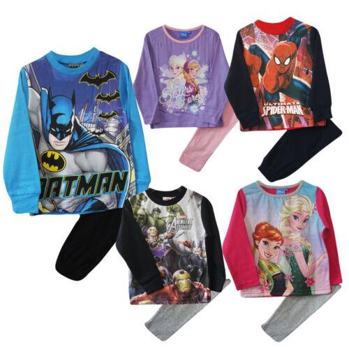 Kids Official Character Boys Pyjama Set Nightwear Pyjama Girls Bottoms 3-10 year