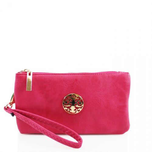 Ladies 368 Logo Design Wristlet Purse Wallet Phone Key Pouch Mini Cross Body Bag