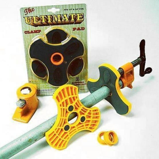 """ULTIMATE CLAMP PADS - - for  BOTH 1/2"""" and 3/4"""" PIPE CLAMPS - - WOODWORKING"""
