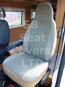 TO FIT A FIAT DUCATO MOTORHOME SEAT COVERS 2003 2 FRONTS TAFFINO BEIGE
