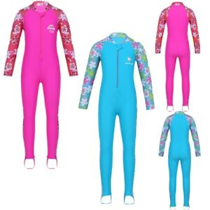 Toddler-Kid-Girl-Long-Sleeve-Swimsuit-Rash-Guard-Sun-Protective-Surf-Swim-Beach