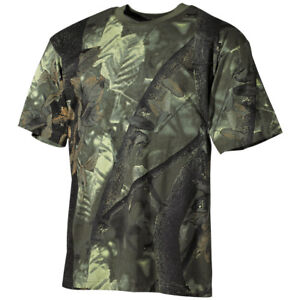 Hunting-Fishing-Trapper-Camouflage-Top-Camo-Mens-T-Shirt-Real-Tree-Green-Tee
