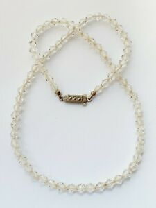 Vintage-17-5-034-1950s-Clear-Faceted-Glass-Necklace