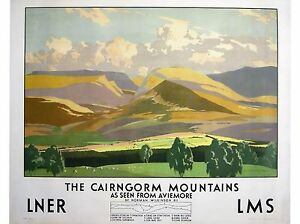 100% De Qualité Murale Estampe - Vintage Rétro Affiche De Voyage - Cairngorm - A4,a3,a2,a1 Les Commandes Sont Les Bienvenues.