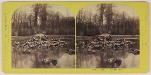 Bassin-Da-L-Encelade-Versailles-Francia-Foto-Stereo-L53S1n12-Vintage-Albumina