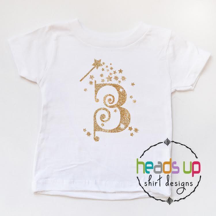 3rd Birthday Toddler Girl Shirt Princess Fairy Glitter Wand Three Bday Third Tee