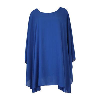 Womens Ladies ITALIAN Lagenlook Chiffon Kaftan Oversized Dress Top Plus Size