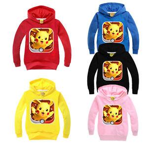 Children-Boys-Pikachu-Cartoon-Pokemon-Long-Sleeve-Hoodie-Sweatshirt-Jumper-Tops