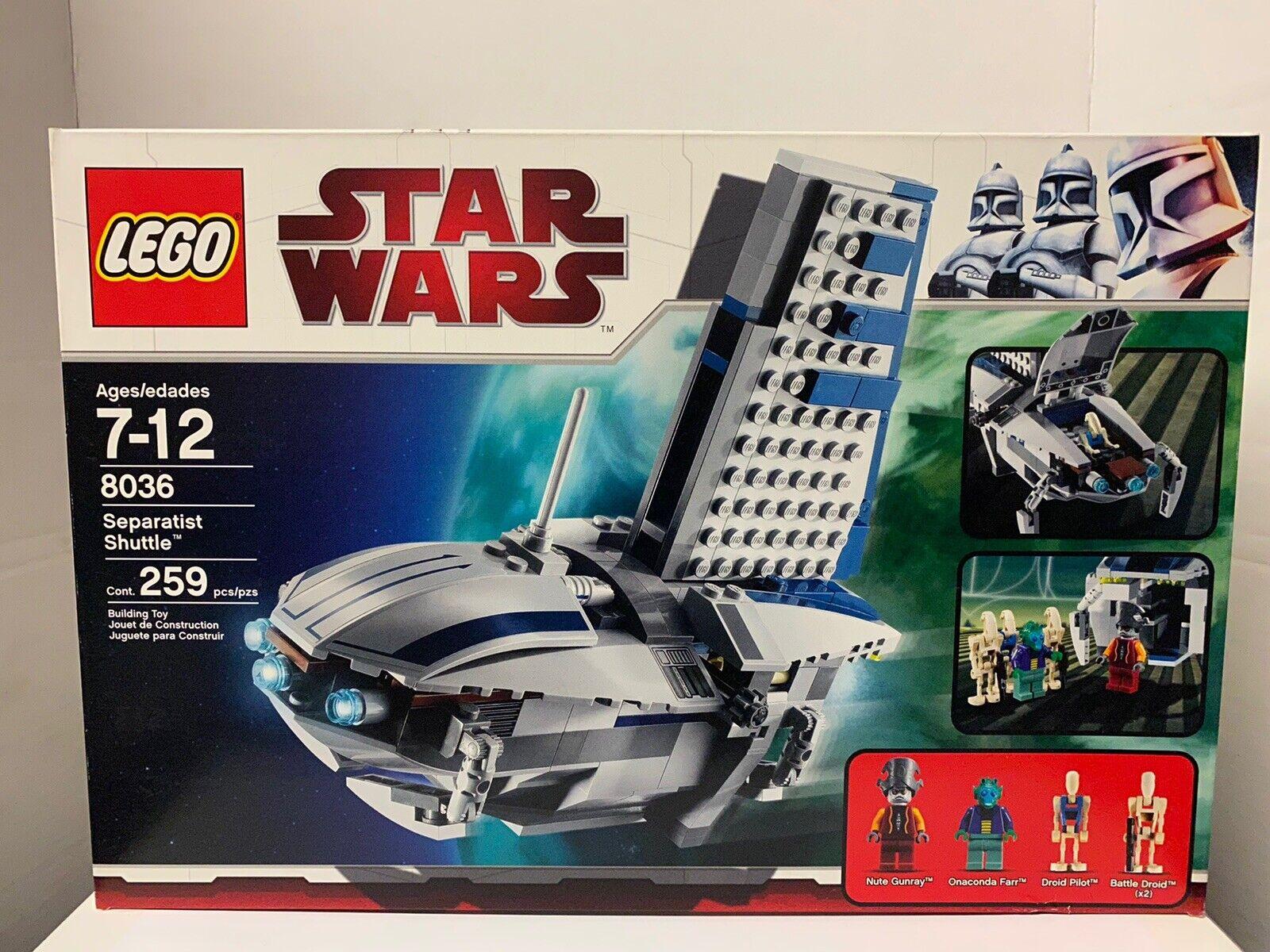 Lego 8036 Star Wars Separatist Shuttle.Retirot New Sealed In Box