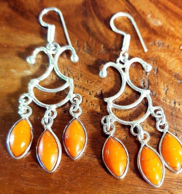 carnelian gemstone  DANGLE DROP LADY,S EARRINGS