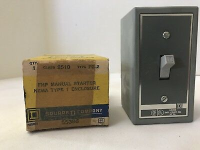 NEW IN BOX SQUARE D STARTER CLASS 2510 FG2 SERIES A 2510FG2