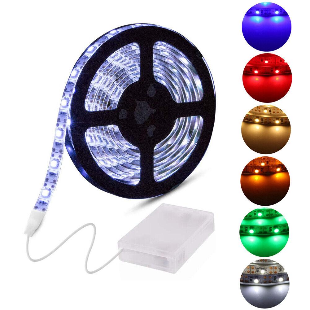 Xmas LED Stripe Batteriefach Leiste Streifen Band Lichtband Fernbedienung USB