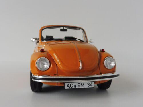 Spielzeugautos VW Käfer 1303 Cabriolet Orange 1973 1/18 Norev 188521 Beetle Volkswagen