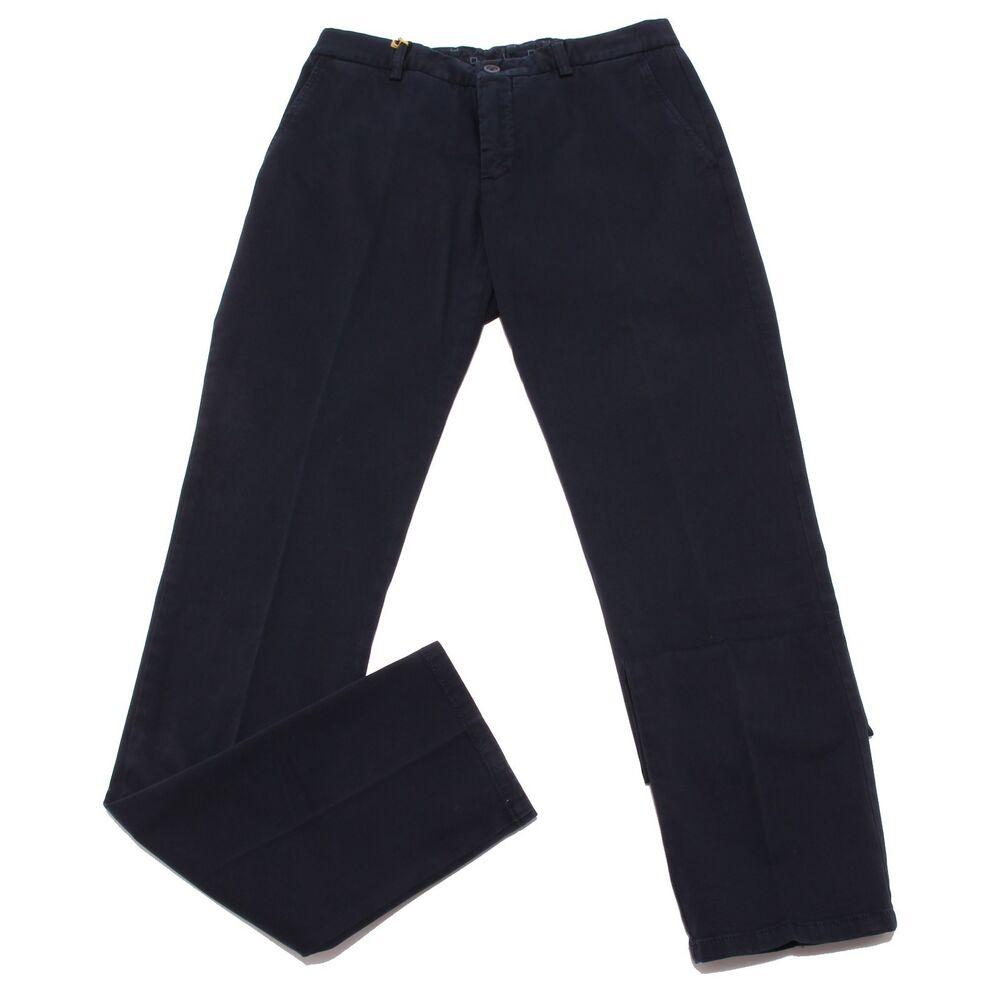4081w Pantalone Uomo Etro Blue Cotton Trouser Men