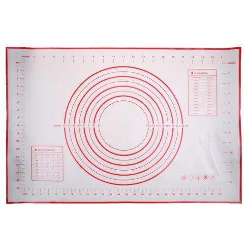 Groß Ausrollmatte Backmatte Silikon Fondant Rollmatte Teigmatte Teigunterlage