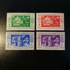 FRANCE-COLONIE-NOUVELLES-HEBRIDES-N-167-170-NEUF-LUXE-MNH-COTE-9