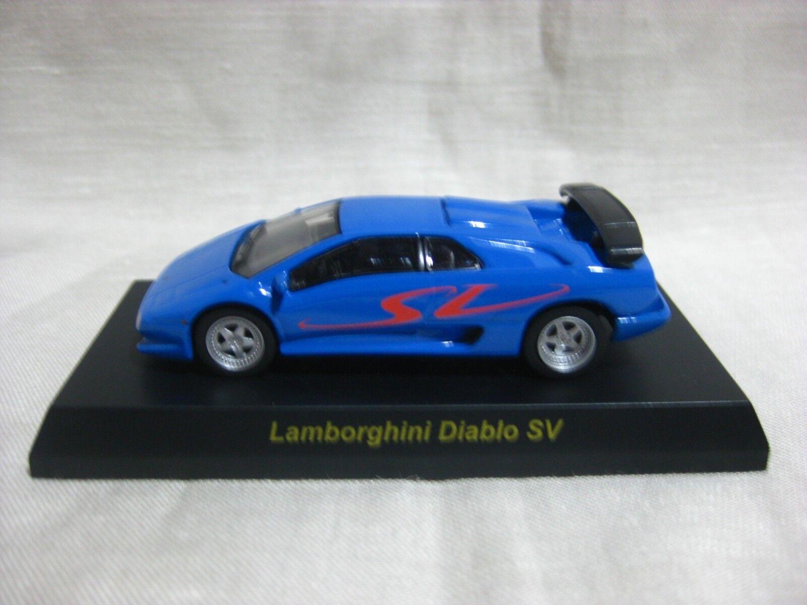 1 64 Kyosho Lamborghini Diablo SV Blå tärningskast modelllllerlerl Bil