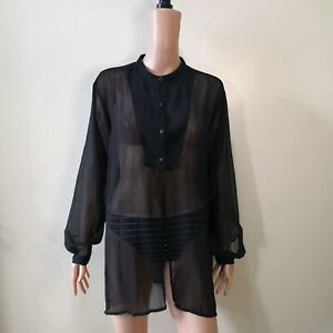 C198-Jacqueline-de-Young-Wrinkled-Sheer-Long-Sleeve-Coverup-Top