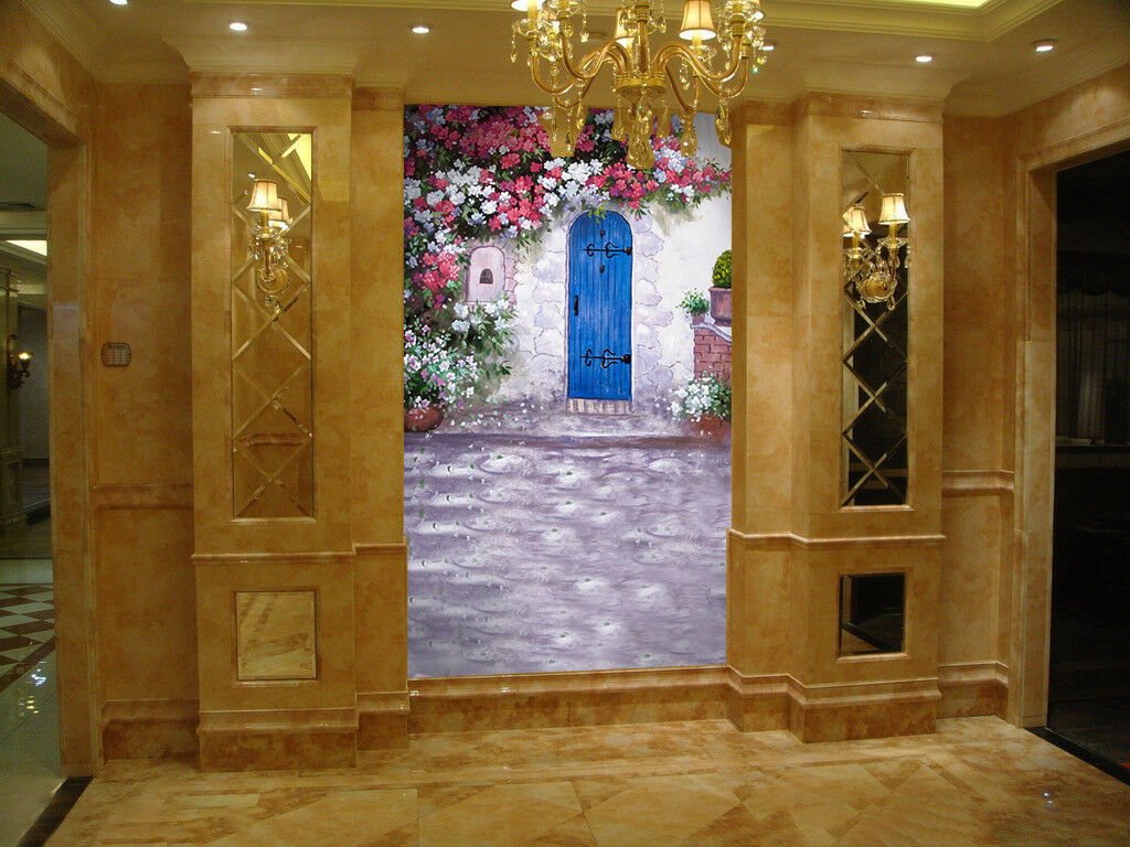3D Flower Vine Door 52 Wall Paper Wall Print Decal Wall Deco Indoor Mural Carly