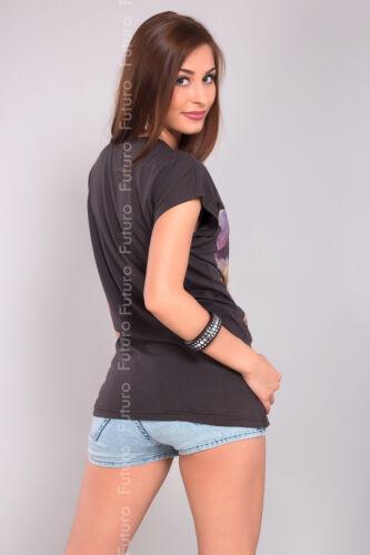 Women/'s Casual Top GIRL Print Scoop Neck Cotton T-Shirt Sizes 8-14 B09