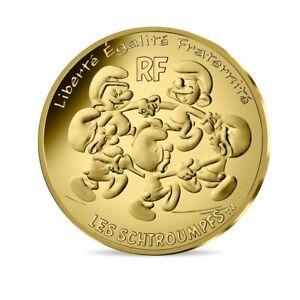 200-euro-France-2020-or-BU-La-Ronde-des-Schtroumpfs