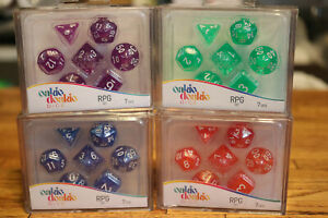 Lot-of-4-Oakie-Doakie-Dice-RPG-Set-Life-Counter-Game-Works-with-Twin-Flip-n-Tray