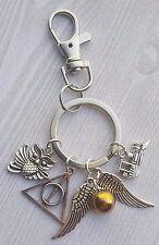 Harry Potter Charm Golden Snitch Hogwarts Keychain Key Chain Bag Purse Clip