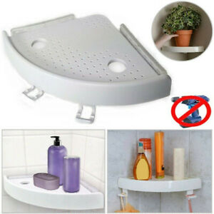 White Corner Shelves Shower Storage Shelf Soap Dish Tray