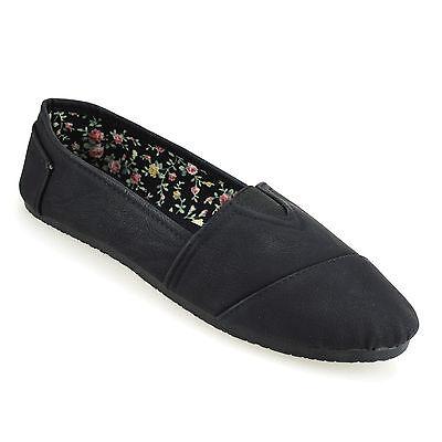 Ladies Womens Flat Slip On Summer Pumps Plimsolls Trainers Espadrilles Shoe Size