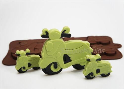 4 1 vespa scooter cyclomoteur Nouveauté Rétro Bonbon au chocolat moule silicone Bar Lolly