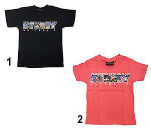 Children-Unisex-Australian-T-Shirt-Souvenir-Gift-100-Cotton-Sydney
