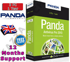 PANDA ANTIVIRUS PRO 2013 3 PC USER 1 YEAR! Activation License Key Anti Virus