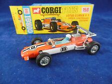 Corgi Toys 158 Lotus Climax controlador F/1 controlado volante cerca de nuevo, sin usar