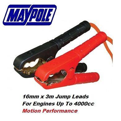 Maypole Professional 100/% Copper Booster Cable 16mm x 3m />4000cc 400A #352