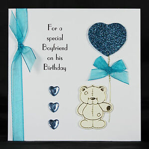 Personalised handmade birthday card ideal for boyfriend husband by image is loading personalised handmade birthday card ideal for boyfriend husband thecheapjerseys Images