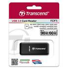 Transcend RDF5K USB3.0 High Speed Card Reader SD SDHC/XC microSD microSDHC Black
