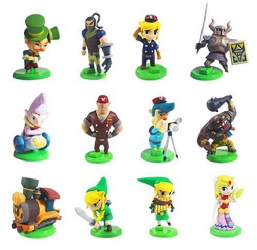 12pcs The Legend Of Zelda Spirit Tracks Mini Figures Capsule Toys 5cm PVC Gift