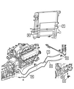 OEM NEW 2002-2004 Mopar Dodge Ram 1500 Oil Cooler Tube And Hose Lower 52028867AC
