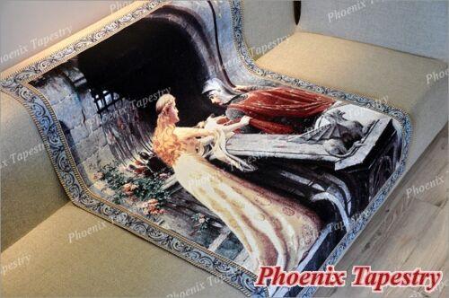 "Coton 100/% 55/""x39/"" UK LE BON VENT médiéval Fine Art Tapestry Wall Hanging"
