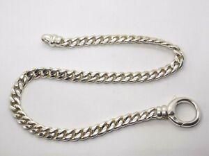 """Grueso Pesado 925 Plata 16"""" pulgadas Bordillo Enlace Collar Cadena. 8.7mm de ancho. 93 gramos"""