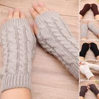 Fashion Unisex Men Women Knitted Fingerless Winter Gloves Soft Warm Mitten GIFTS