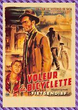 Carte Postale Affiche de Film - LE VOLEUR DE BICYCLETTE (Lamberto Maggiorani)