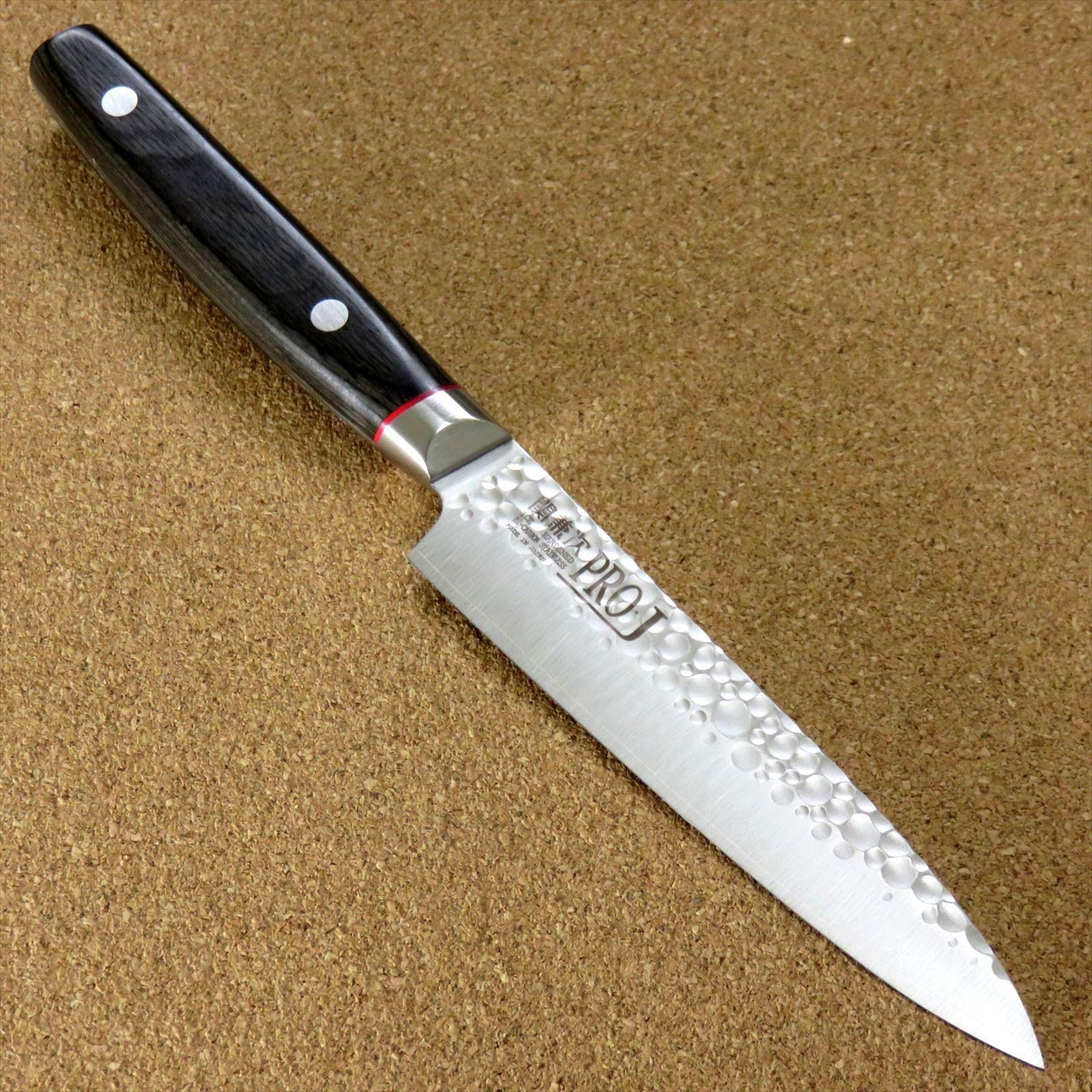 Japonais PRO-J cuisine PETTY Couteau 120 mm 4.7  marteau forgé SEKI JAPAN