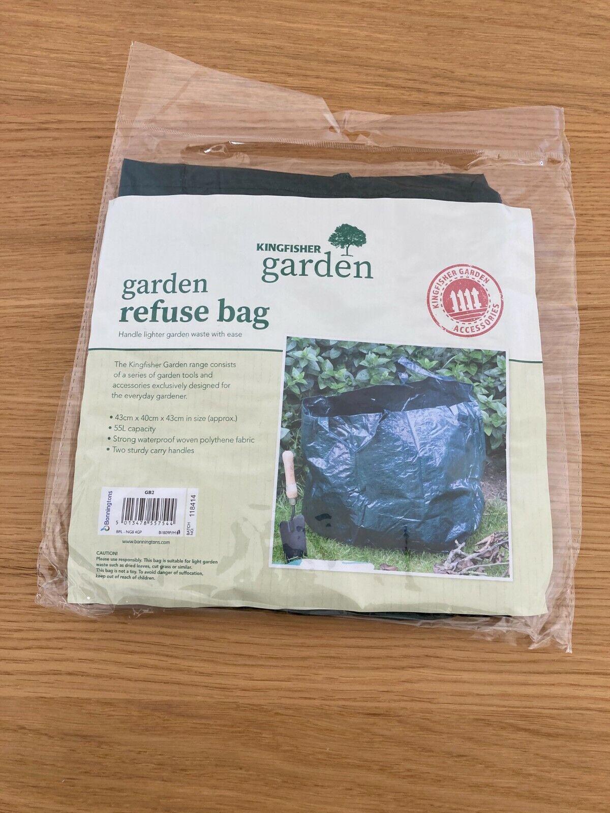 Garden Refuse Bag (strong, waterproof, 55L capacity, carry handles)