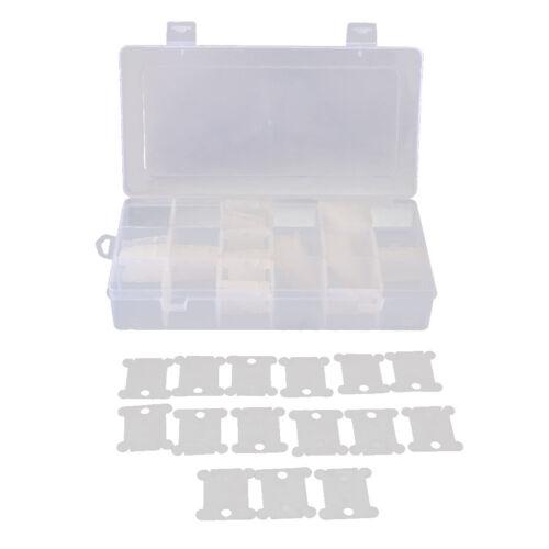 240 Floss Bobbin mit 2 Stück 18 Raster Stickgarn Aufbewahrungsbox